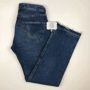 Levi's 501 Raw Hem Selvedge Sample Jean 32x32